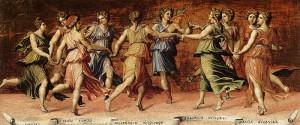 Baldassare Peruzzi - Dance of Apollo with the Nine Muses