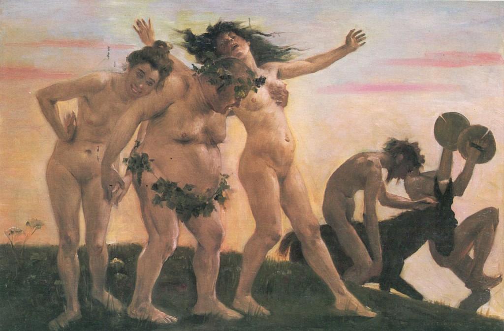 Lovis Corinth Heimkehrende Bacchanten 1898